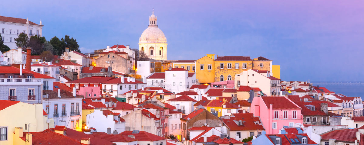 Lisbon in the evening