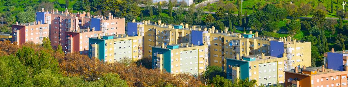Urban parkland in Lisbon