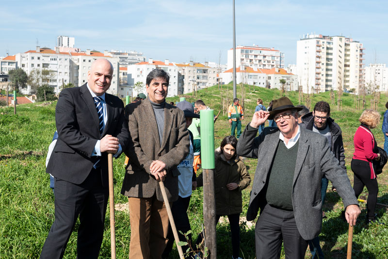 Diogo de Gusmão-Sørensen, Portuguese Environment and Energy Transition State Secretary, Carlos Martins, and Councillor for Environment of Lisbon City Hall, José Sá Fernandes.